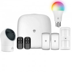 Chuango 4G WiFi Σύστημα Συναγερμού και αυτοματισμού με Περιστρεφόμενη Κάμερα και Λάμπα RGBW - LTE-400-BUNDLED