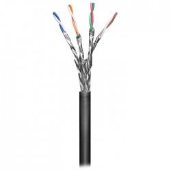 Καλώδιο δικτύου S/FTP CAT 6, μονόκλωνο σε κουλούρα 1m, ιδανικό για εξωτερική χρήση.