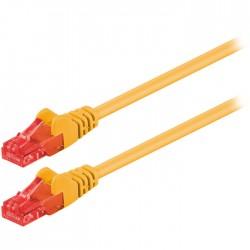 Καλώδιο δικτύου CAT 6 U/UTP patchcable 1m σε κίτρινο χρώμα - 68438