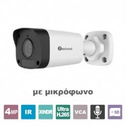 TECHSHELL 4MP IP POE Κάμερα με μικρόφωνο IPC-P4B3WD-ACS 2.8