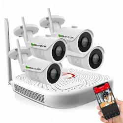 BMC FULL HD 9κάναλο WiFi Σετ Παρακολούθησης με 4 IP Κάμερες
