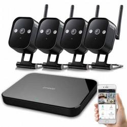 NVR ΣΕΤ 4κάναλο με 4 IP WiFi Αδιάβροχες Κάμερες 720p - KW1001-04