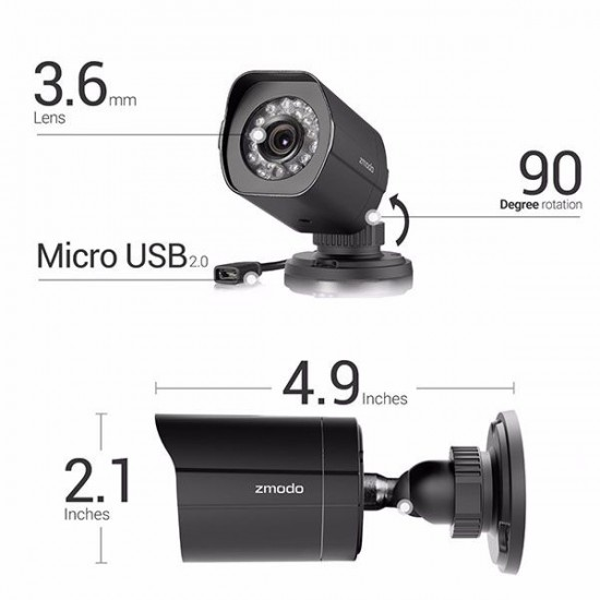 NVR Systems KIT : Zmodo Full HD 1080p SET 4 IP Outdoor