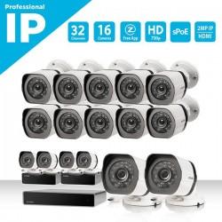 NVR Σετ 32 καναλιών sPoE με 16 IP  Κάμερες  720p HD- BS-1016