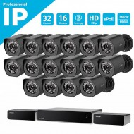 NVR Σετ 32 καναλιών sPoE με 16 IP  Κάμερες  720p HD- BS-1016-B