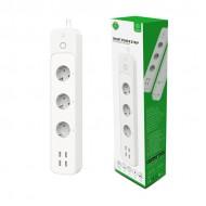 WOOX Smart WiFi Πολύπριζο με Ένδειξη Κατανάλωσης Ρεύματος και 4 θύρες USB- R5104