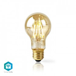 NEDIS WiFi Smart LED Filament Bulb E27 A60 5W 500 lm - WIFILF10GDA60