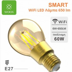 WOOX WiFi Smart LED Filament λάμπα E27 6w 650 lm  - R9078