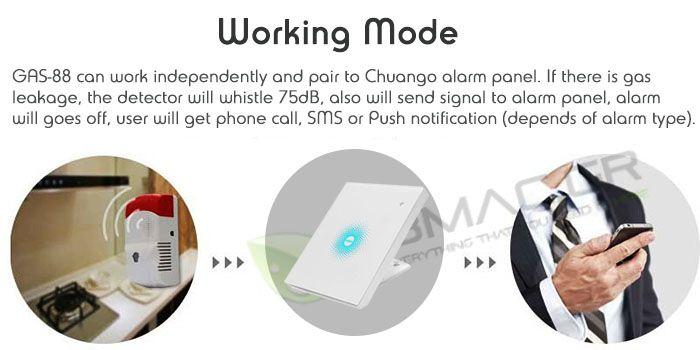 Chuango Gas Leakage Detector (Wireless)- GAS-88