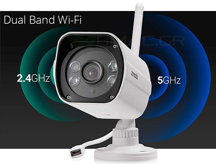 Zmodo 1080p Outdoor WiFi Camera with Extended Night Vision-